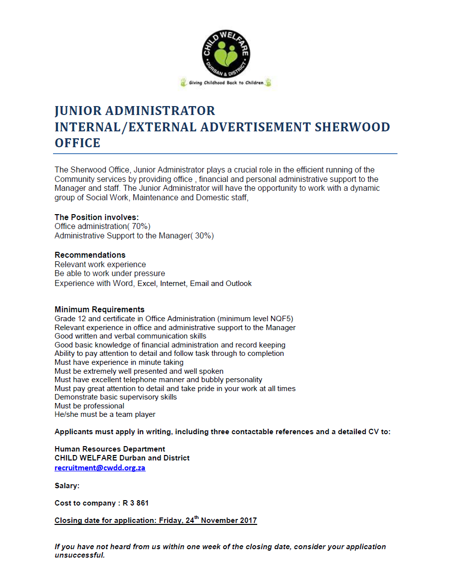 Position Available: Sherwood Office